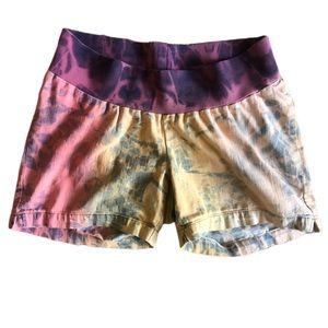 Duo Maternity Shorts Denim Boho Purple Yellow